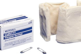 """Curity™ Triangular Bandage 40"""" x 40"""" x 56"""" Approximate Size, Non-sterile, Includes Two Safety Pins"""