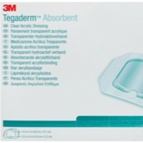 """3M Tegaderm™ Clear Absorbent Acrylic Dressing, Large, 7-9/10"""" x 8"""", 5-9/10"""" x 6"""""""
