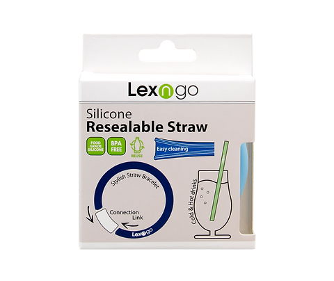 Silicone Resealable Reusable Straw Bracelets