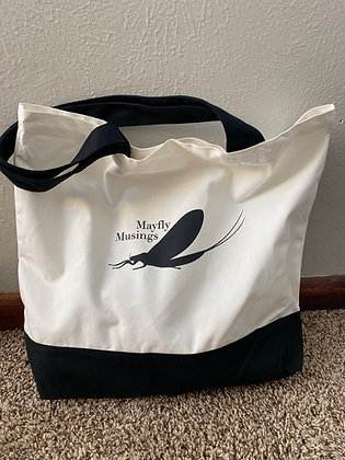 Mayfly Musings Two-Tone Deluxe Classic Cotton Tote Bag