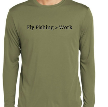 Fly Fishing > Work LS Shirt - Olive Green