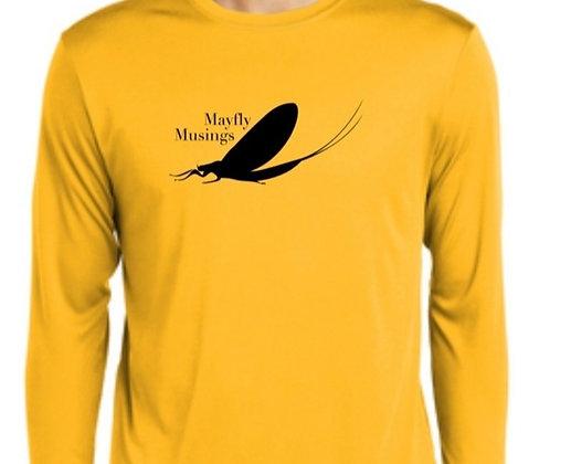 Mayfly Musings LS Logo Shirt - Gold
