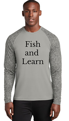 Fish and Learn LS - Camo Grey