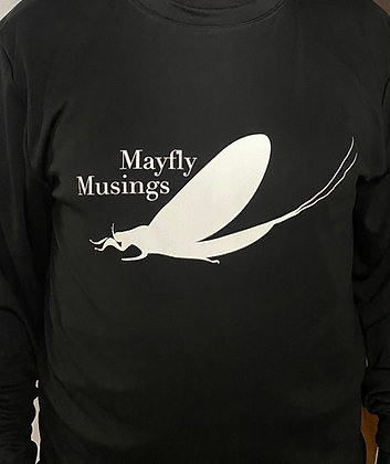 Mayfly Musings LS Logo Shirt - BLACK