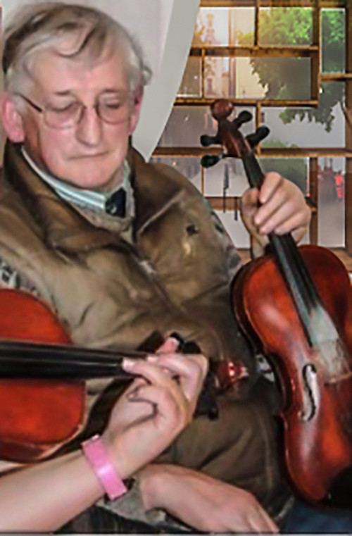 Eddie Kelly a preeminent fiddle-player and button accordionist of the East Galway Irish Music Tradition (EGIMT) style