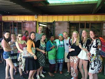 Outside Mzolis on our Khayelitsha Township Tour