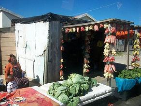 Vegetable vendor on Khayelitsha Township Tour