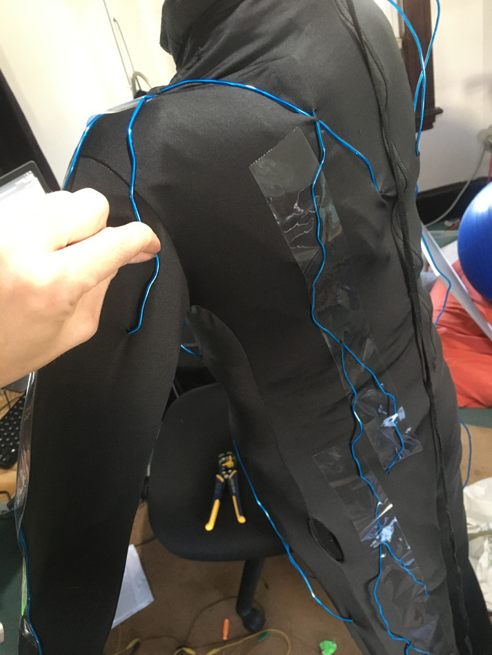 Using tape as guide for further sewing