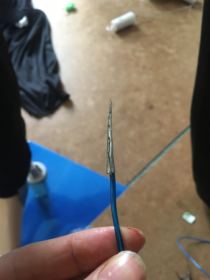 Custom el wire needle