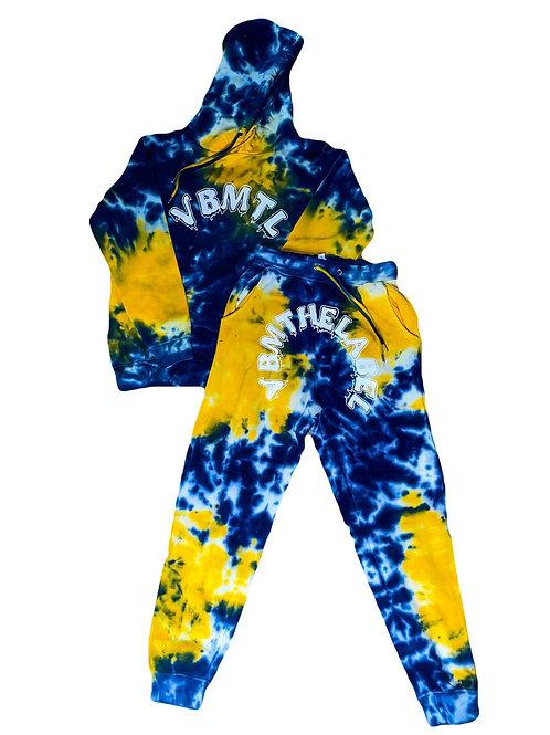Blue Splash Tie Dye Sweatsuit