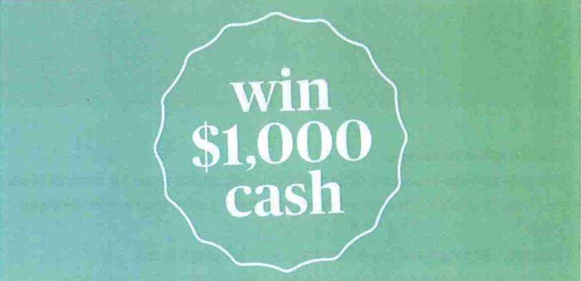 Win $1,000 Cash