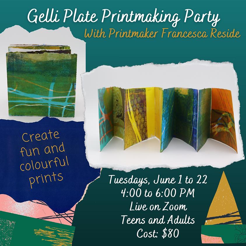 Gelli Plate Printmaking Party