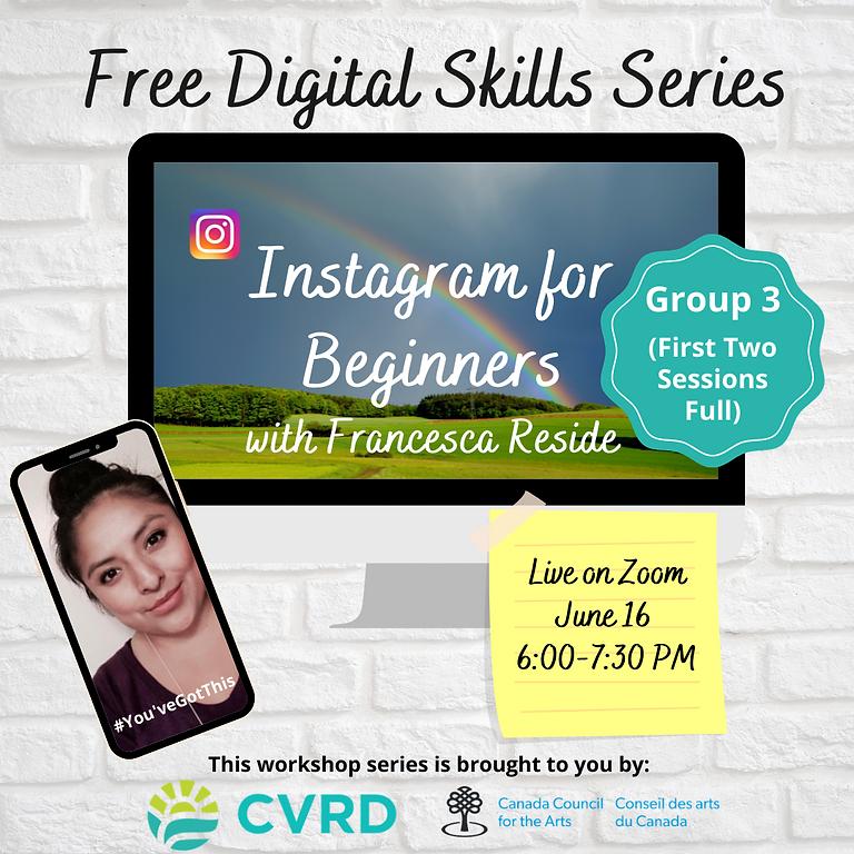 Instagram for Beginners (Group 3)
