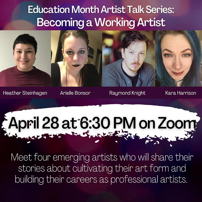 Artist Talk: Becoming a Working Artist