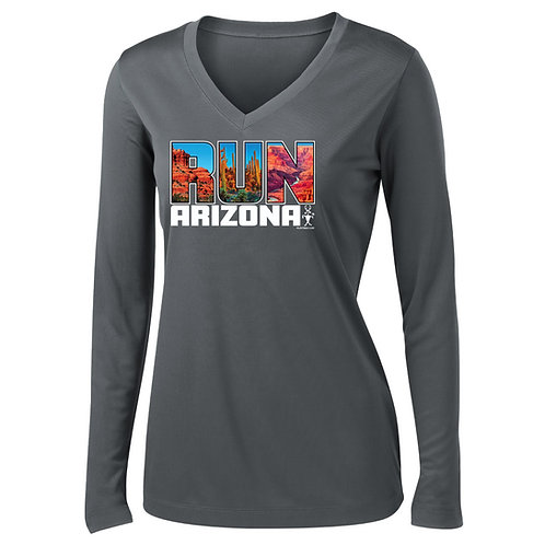 Run Arizona Womens Long Sleeve V-Neck (LST353LS)