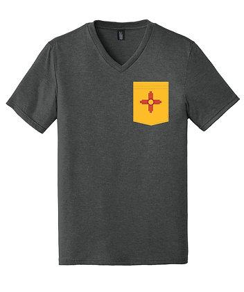 New Mexico Men's V-Neck Pocket shirt DT1350