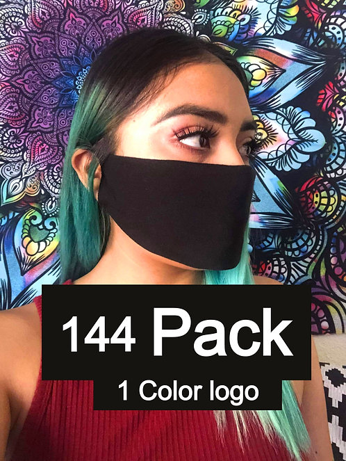 Single Ply Multicolored face mask 144 pack 1 Color logo