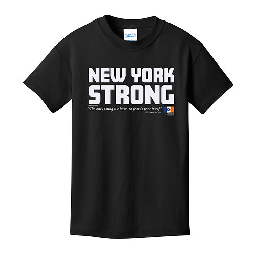 New York Strong Youth Black T-Shirt (PC54Y)