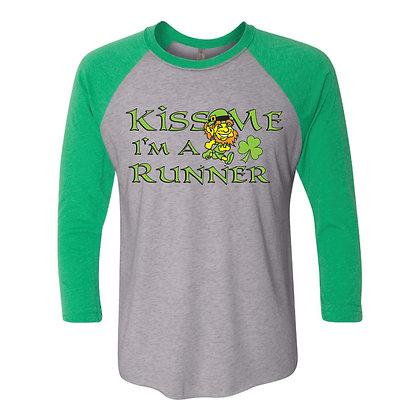 Kiss Me Im Irish Quarter Sleeve