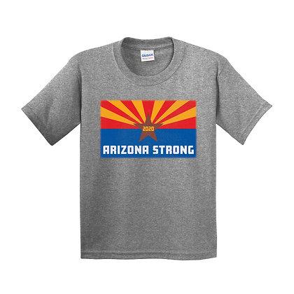 Arizona Strong Youth Graphite Heather T-Shirt (5000B)