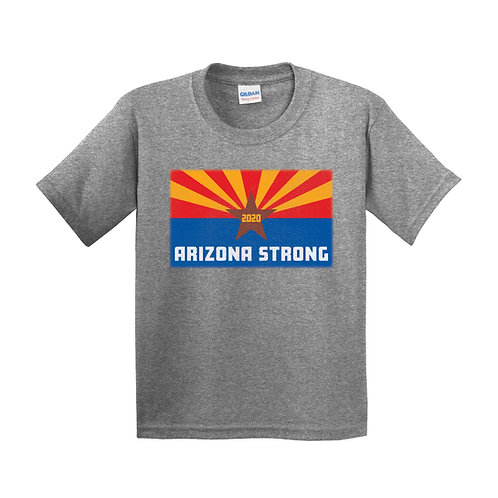 Arizona Strong Youth Graphite Heather T-Shirt (5000B)