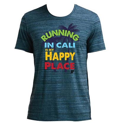Running In Cali Is My Happy Place Mens Tee (6750ID)