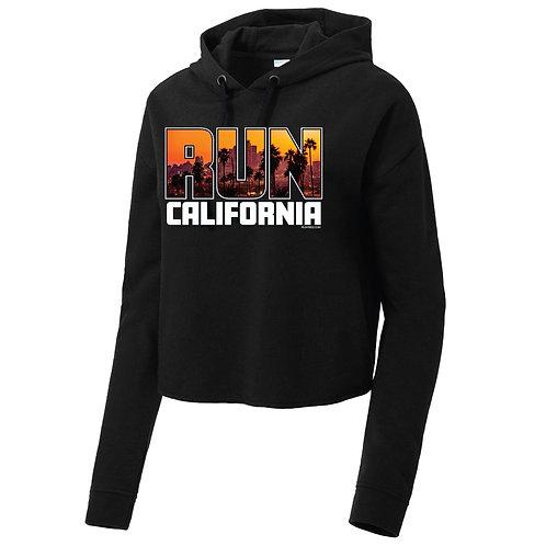Run California Womens Short Sleeve Hooded Pullover (LST298)
