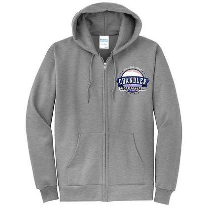 Chandler Girls Softball Zip Up Sweatshirt