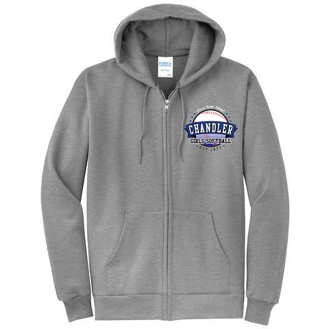 Chandler Girls Softball Zip Up Sweatshirt