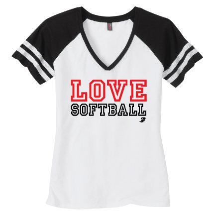 Love Softball Womens Tee (DM476)