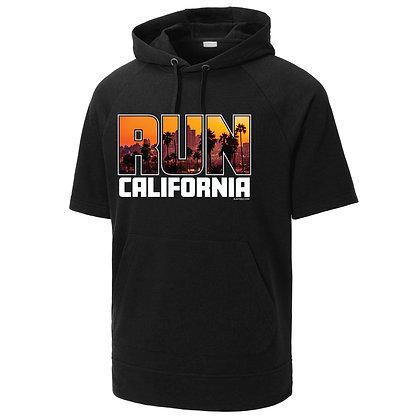 Run California Short Sleeve Hooded Pullover (ST297)