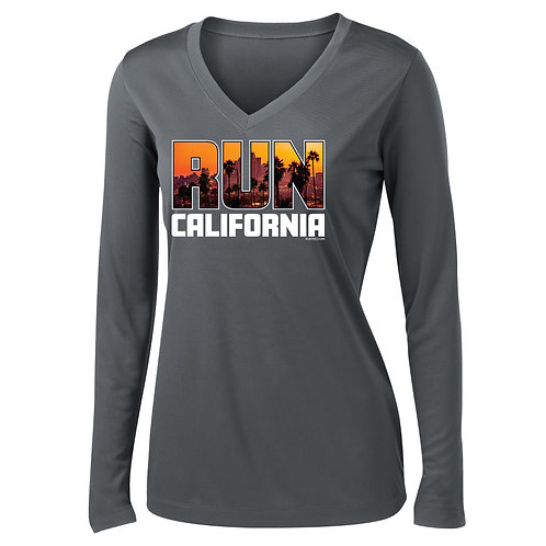 Run California Womens V-Neck Long Sleeve (LST353LS)