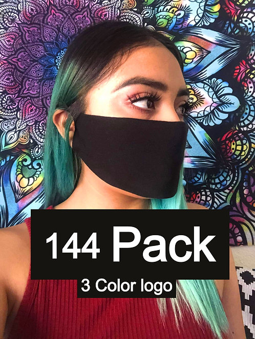 Single Ply Multicolored face mask 144 pack 3 Color logo