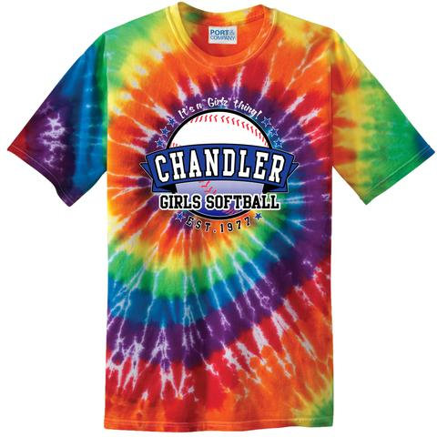 Youth Chandler Girls Softball Tie-Dye T-Shirt
