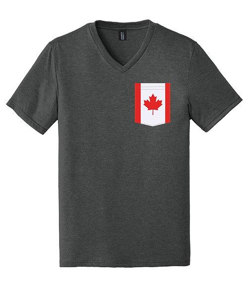 Canada Men's V-Neck Pocket shirt DT1350