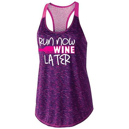 Run Now Wine Later Womens Tank (Holloway 222733)