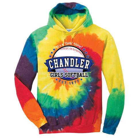 Chandler Girls Softball Tie-Dye Sweatshirt