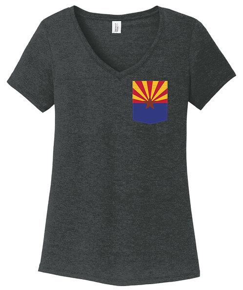 Arizona Girl V-Neck Pocket shirt DM1350L