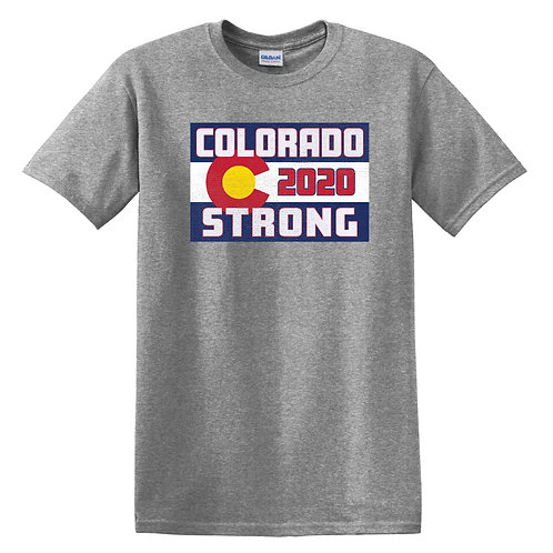 Colorado Strong Adult Graphite Heather T-Shirt (5000)