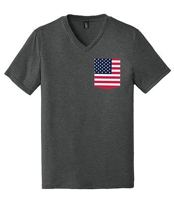 USA Men's V-Neck Pocket shirt DT1350