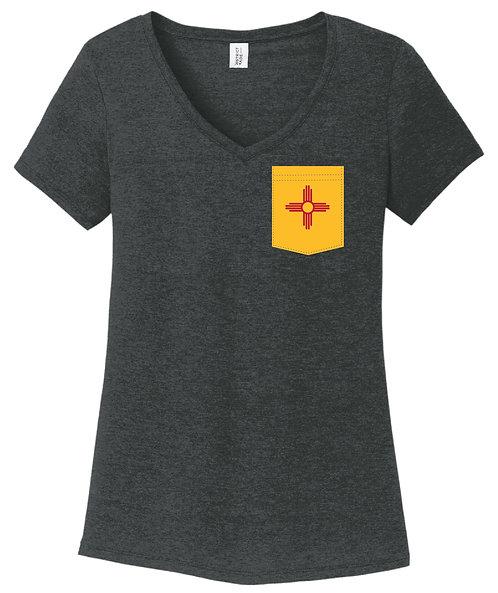 New Mexico Girl V-Neck Pocket shirt DM1350L