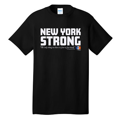 New York Strong Adult Black T-Shirt (PC54)