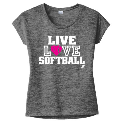 Live Love Softball Ladies Tee (LST390)