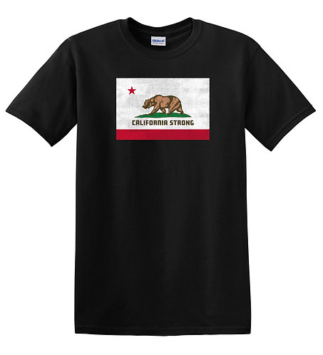 California Strong Adult Black T-Shirt (5000)
