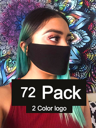 Double Ply Multicolored face mask 72 pack 2 Color logo