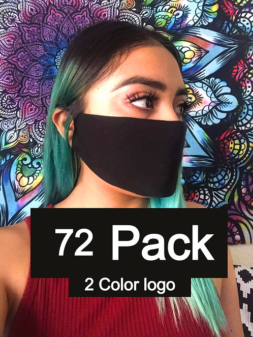 Single Ply Multicolored face mask 72 pack 2 Color logo