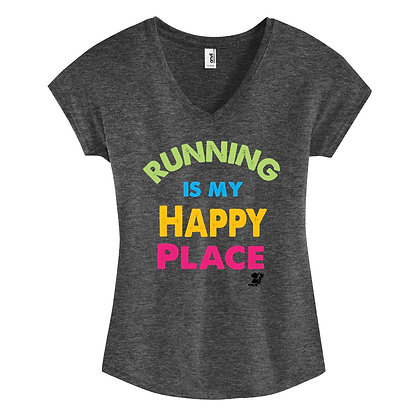 Running Is My Happy Place Womens Tee (6750L)