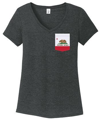 California Girl V-Neck Pocket shirt DM1350L