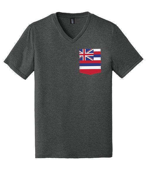 Hawaii Men's V-Neck Pocket shirt DT1350