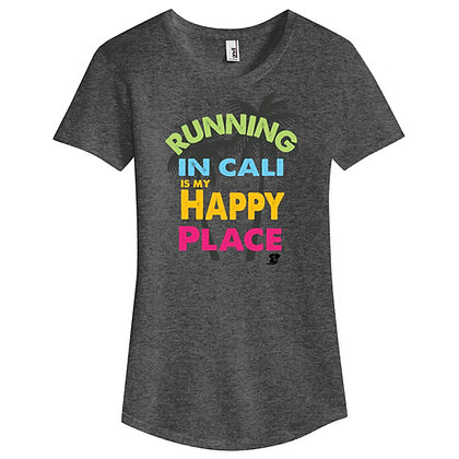 Running In Cali Is My Happy Place Ladies Tee (6750L)